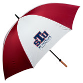 62 Inch Cardinal/White Umbrella-Official Logo