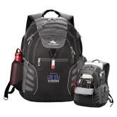 High Sierra Big Wig Black Compu Backpack-Official Logo