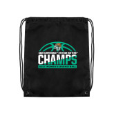 Black Drawstring Backpack-Atlantic Sun Womens Basketball Champions