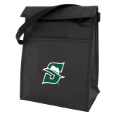 Black Lunch Sack-Primary logo