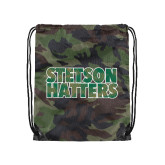 Camo Drawstring Backpack-Stetson Hatters Hex Camo