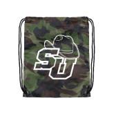 Camo Drawstring Backpack-SU w/ Hat