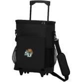 30 Can Black Rolling Cooler Bag-SU w/ Hat
