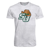 Next Level Heather White Tri Blend Crew-SU w/ Hat