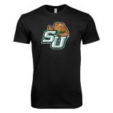 Next Level SoftStyle Black T Shirt-SU w/ Hat
