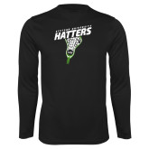 Performance Black Longsleeve Shirt-Lacrosse