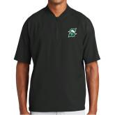 New Era Black Cage Short Sleeve 1/4 Zip-Primary logo