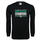 Black Long Sleeve T Shirt-Atlantic Sun Womens Basketball Champions