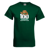 Dark Green T Shirt-100 Seasons of Baseball
