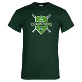 Dark Green T Shirt-2018 Baseball Champions