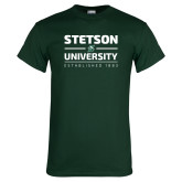 Dark Green T Shirt-Stetson University Est 1883