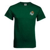 Dark Green T Shirt-SU w/ Hat