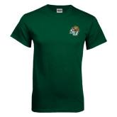 Dark Green T Shirt-SU w/ Hat