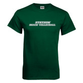Dark Green T Shirt-Beach Volleyball