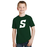 Youth Dark Green T Shirt-Secondary Logo