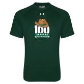 Under Armour Dark Green Tech Tee-100 Seasons of Baseball