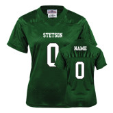 Ladies Dark Green Replica Football Jersey-Personalized