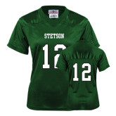 Ladies Dark Green Replica Football Jersey-#12