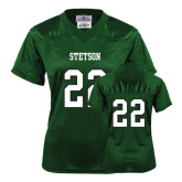 Ladies Dark Green Replica Football Jersey-#22