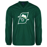 V Neck Dark Green Raglan Windshirt-Primary logo