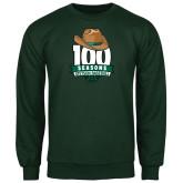 Dark Green Fleece Crew-100 Seasons of Baseball