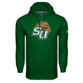 Under Armour Dark Green Performance Sweats Team Hoodie-SU w/ Hat
