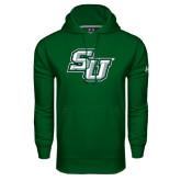 Under Armour Dark Green Performance Sweats Team Hoodie-