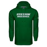 Under Armour Dark Green Performance Sweats Team Hoodie-Baseball