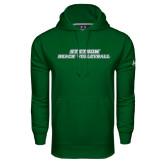 Under Armour Dark Green Performance Sweats Team Hoodie-Beach Volleyball