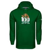 Under Armour Dark Green Performance Sweats Team Hoodie-100 Seasons of Baseball
