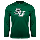 Performance Dark Green Longsleeve Shirt-