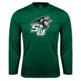 Performance Dark Green Longsleeve Shirt-SU John