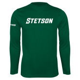 Performance Dark Green Longsleeve Shirt-Stetson