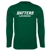 Performance Dark Green Longsleeve Shirt-Lacrosse