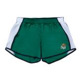 Ladies Dark Green/White Team Short-SU w/ Hat