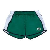 Ladies Dark Green/White Team Short-
