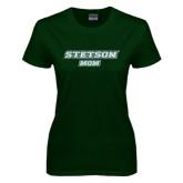 Ladies Dark Green T Shirt-Mom