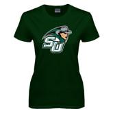 Ladies Dark Green T Shirt-SU John