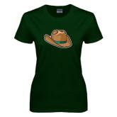 Ladies Dark Green T Shirt-Hat