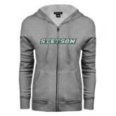 ENZA Ladies Grey Fleece Full Zip Hoodie-Stetson