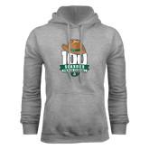 Grey Fleece Hoodie-100 Seasons of Baseball