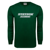 Dark Green Long Sleeve T Shirt-Alumni