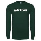 Dark Green Long Sleeve T Shirt-Hatters