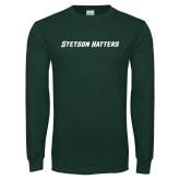 Dark Green Long Sleeve T Shirt-Stetson Hatters