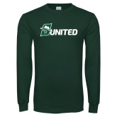 Dark Green Long Sleeve T Shirt-Sunited