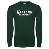 Dark Green Long Sleeve T Shirt-Lacrosse