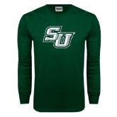 Dark Green Long Sleeve T Shirt-