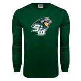 Dark Green Long Sleeve T Shirt-SU John