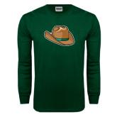 Dark Green Long Sleeve T Shirt-Hat