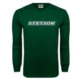 Dark Green Long Sleeve T Shirt-Stetson